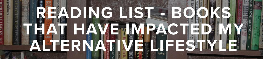 Alternative lifestyle book list